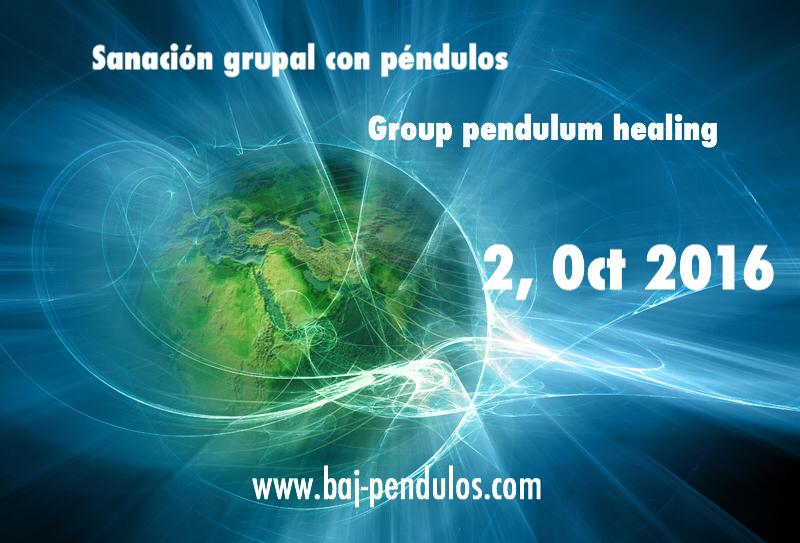 Sanación grupal con péndulos 2 Octubre 2016