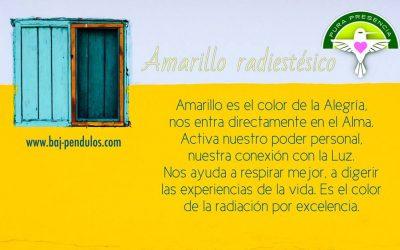 Colores radiestésicos: Amarillo