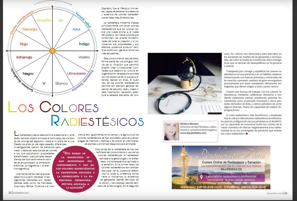 Los colores radiestésicos