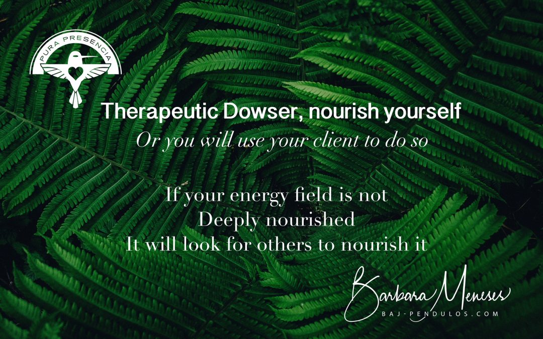 Therapeutic Dowser, heal yourself